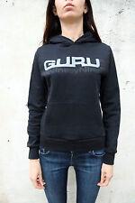 GURU 99 Con Cappuccio Felpa Con Cappuccio Top Nero Cotone Giacca Maglione Top S BUONE