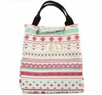 Portable Insulated Canvas Lunch Bag Thermal Food Holder Women Picnic Sport Tools