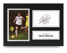 Chris Martin Signed A4 Photo Display Derby County Autograph Memorabilia + COA