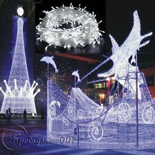 Guirlande Electrique 100 LED 10m Decoration Fêtes Mariage Blanc 8 Programmations
