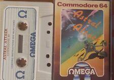 ASTRAL Attack CASSETTA c64 (imballaggio, Manual, tape) funziona 100%