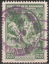 El Salvador Air Post Stamp - Scott #C74/AP16 20c Deep Green Canc/LH 1940
