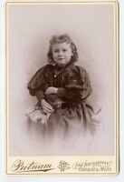 Cabinet Photo - Chelsea, Massachusetts -Cute Little Girl Nicely Dressed W/Locket