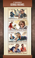 Sierra Leone 2018 MNH George Michael 4v M/S Celebrities Popstars Music Stamps