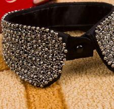 Women Rhinestone Fake Embellished Collar Removable False Blouse Bib Neckband