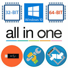 Windows 7 / 10 all in one Flash Drive USB Install Aio Upgrade Repair Win10 v2004