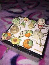 Nib Lenox Mini Tree Ornament 10 Piece Set $160 First Quality Autumn Favorites