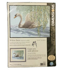 NEW COUNTED CROSS STITCH KIT DIMENSIONS WILLOW SWAN 35231