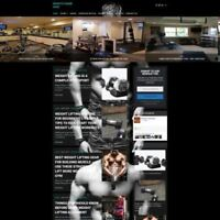 BODYBUILDING STORE - Professionally Designed Affiliate Website For Sale + Domain