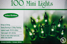 ST PATRICKS DAY GREEN MINI LIGHTS.100CT 22FT GREEN WIRE SMART BULB TECH