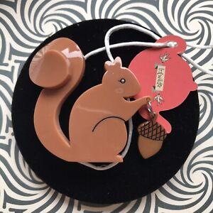 Satisfied Squirrel Brooch Erstwilder original