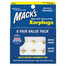 Macks MACK'S #7 Pillow soft earplugs learn to swim special needs 7yrs & up 6prs
