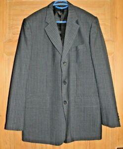 -Herren Anzug Gianni Versace Tessuti Grau leichte Streifen (5)