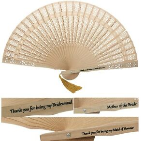 Hand Fan Gift Bridesmaid Maid of Honour Mother of the Bride Groom Flower Girls