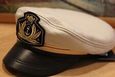 New marine kartuzy peaked cap flat genuine leather Made Russia Visor Russian hat