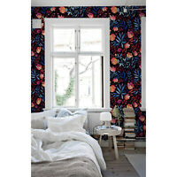 Floral Pattern removable wallpaper Watercolor decor Flowers wall mural
