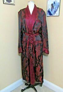 "Vintage Men's ""Silk"" Robe Dressing Gown Robe Smoking Jacket Size 48 Chest"