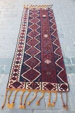 Rare oldTribal Van runner kilim,Turkish Kilim,Fantastic decorative color kilim