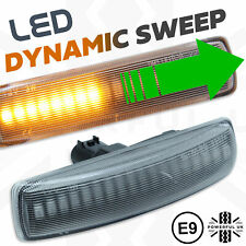 FLOWING DYNAMIC SIDE INDICATORS REPEATERS FLOW LED UPGRADE + CLEAR LENS FREE Side Light Bulbs V W Transporter T5 2003-2015