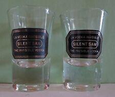 Silent Sam, The Invisible Vodka, Shot Glass Set of 2
