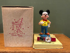 """NOS DISNEY 1958 """"MICKEY MOUSE"""" INGERSOLL / TIMEX WRISTWATCH IN BOX"""