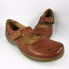 Clarks Evianna Date Mary Jane Womens Size 6M Brown Leather Slip-On Moccasin Flat