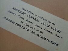"""WW2 (1943) For Circulation to """"THE FIGHTING FORCES OF THE ALLIED NATIONS"""""""