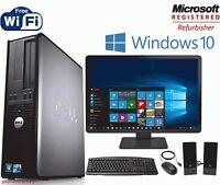 """Fast Dell Optiplex Desktop PC Computer Dual Core 3.0Ghz 8GB 2TB Win 10 Pro 19"""""""