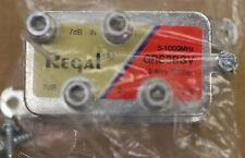 REGAL CABLE TV VIDEO DIGITAL HD COAXIAL 3 WAY SPLITTER 1GHZ VERTICAL