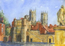 Bootham Bar, York, Hand Signed, Titled and Mounted Print with COA