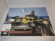 CHRIS YOUNG SIGNED 11X14 PHOTO PSA/DNA V34648 NEON YOU TOMORROW COUNTRY STAR