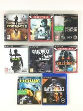 Lot 8 Jeu PS3 FPS Guerre / Resistance 2 Medal of Honor Call of Duty Killzone 3..