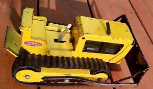 """Vintage Tonka T6 Early Bull Dozer   8.5"""" Long"""