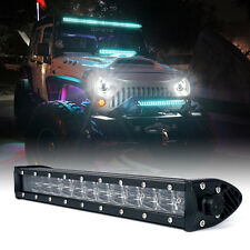 "Xprite C8 Series 72W 14"" Philips LED Spot Flood Combo Light Bar Blue Backlight"