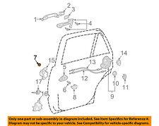 TOYOTA OEM Lock -Rear Door-Handle, Inside Grommet 9018905003