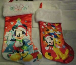 NEW Disney Mickey Mouse Stocking Satin with Plush Cuff plus a used