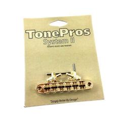 Tone Pros Gold T3BP Locking Nashville Tunematic Guitar Bridge GB-2543-002