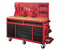 Tool Chest On Wheels Rolling Workbench Combo Mobile Mechanics Storage Cabinet