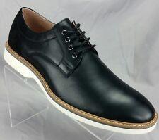 Florsheim Mens 8.5 Shoes Union Plain Oxford Black Grain Leather Suede 15125-001