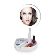 Foldable Led Makeup Mirror Two-sided 1x & 10x Magnifying Mirror Xmas Gift