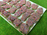 Mixed Flower - Big Meadow Tufts -Static Grass Model Railway Wargame Scenery