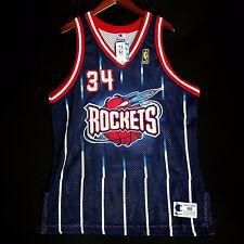 100% Authentic Hakeem Olajuwon Champion NBA @50th Rockets NBA Jersey Sz 48 XL L