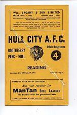 (Ga5301-469) Hull City vs Reading 3rd Division 21/1/1961 VG