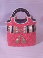DAVID'S COOKIES Collector's Red David's Purse Handbag Ceramic Cookie Jar(P-T Z)