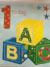 1 Year Old Birthday Card ... ABC Blocks ... Quality Design