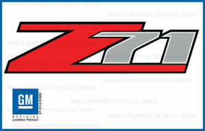 2007 - 2013 Chevrolet Silverado Z71 decals - F - 1500 2500 GM HD stickers Chevy