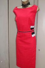 Marks & Spencer Red Tailored Linen Summer Office Wiggle Pencil Dress 22 UK