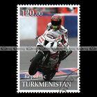 ★ COLIN EDWARDS HONDA VTR SP2 ★ TURKMENISTAN Timbre Moto / Motorcycle Stamp #429