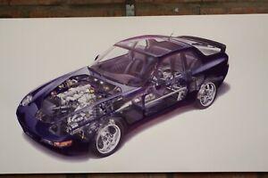 Porsche  968  Pvc large WORK SHOP BANNER garage car show banner