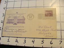 Vintage Envelope:1933 The temple of Virtue patriotic shrine, #215 signed by spon